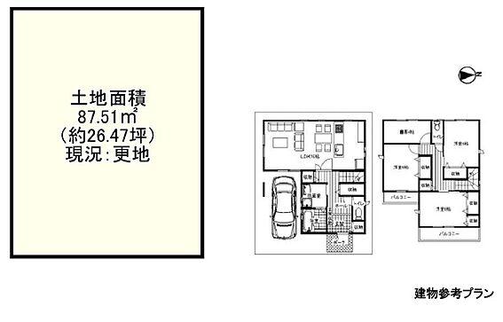 土地-茨木市大池2丁目 区画図