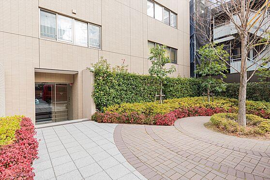 区分マンション-川崎市中原区小杉御殿町2丁目 サブエントランスには植栽が施されており、季節を彩ります。
