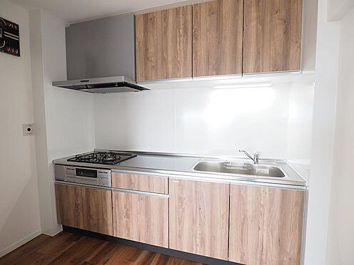 区分マンション-浦安市富岡3丁目 3口ガスコンロのシステムキッチンを新規設置