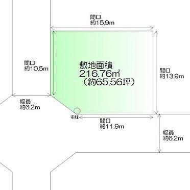 土地-仙台市太白区茂庭台3丁目 区画図