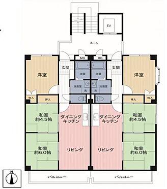 マンション(建物全部)-大阪市東住吉区杭全7丁目 間取り