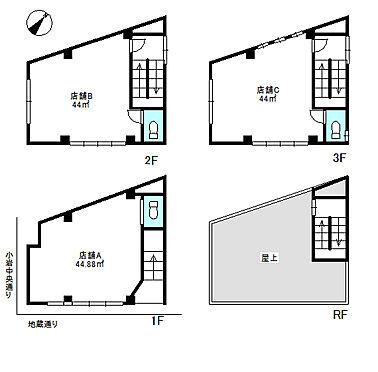 店舗(建物全部)-江戸川区南小岩8丁目 間取り