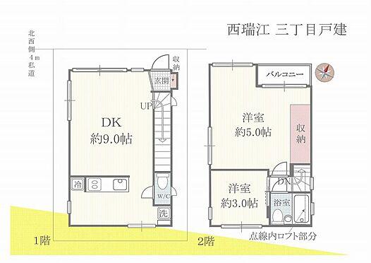 建物全部その他-江戸川区西瑞江3丁目 ロフト付2DK