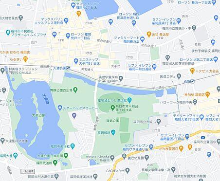 マンション(建物一部)-福岡市中央区大手門2丁目 地図