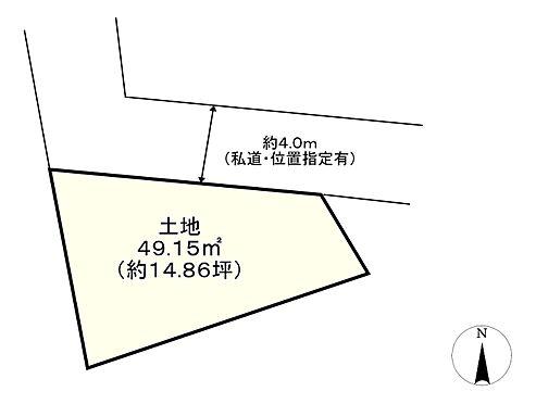 土地-府中市清水が丘3丁目 区画図
