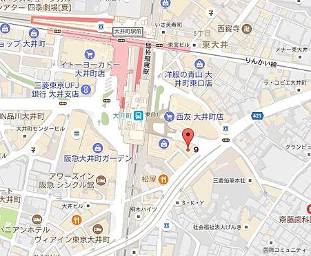店舗事務所(建物一部)-品川区東大井5丁目 地図