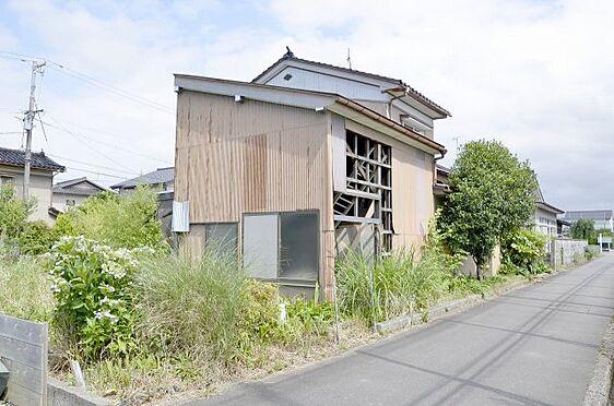 土地-富山市本郷町 西側通路から見た土地の全景