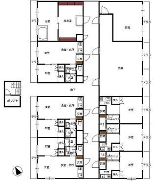 マンション(建物全部)-佐久市中込 1階間取り