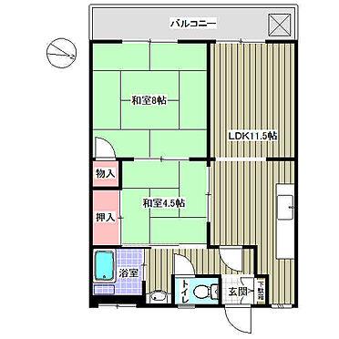 中古マンション-江戸川区北小岩3丁目 間取り