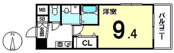 マンション(建物一部)-大阪市住吉区我孫子東1丁目 間取り