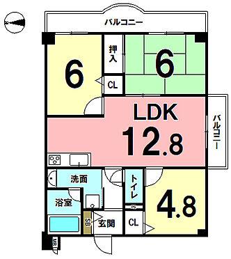 マンション(建物一部)-京都市伏見区羽束師鴨川町 間取り