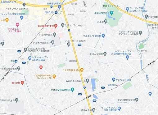 区分マンション-久留米市諏訪野町 地図