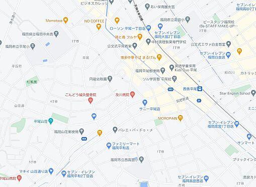 区分マンション-福岡市中央区平尾2丁目 地図