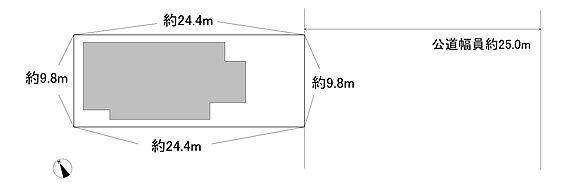 アパート-川越市旭町1丁目 敷地図