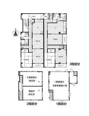 店舗付住宅(建物全部)-八王子市大和田町5丁目 間取り