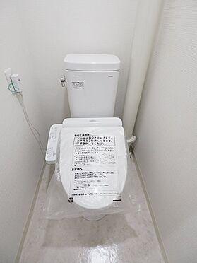 区分マンション-浦安市富岡3丁目 トイレ交換、壁紙、クッションフロア張替え