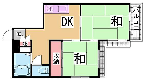 マンション(建物一部)-神戸市兵庫区三川口町2丁目 2面バルコニーで陽当たり良好なファミリー向けの間取りです