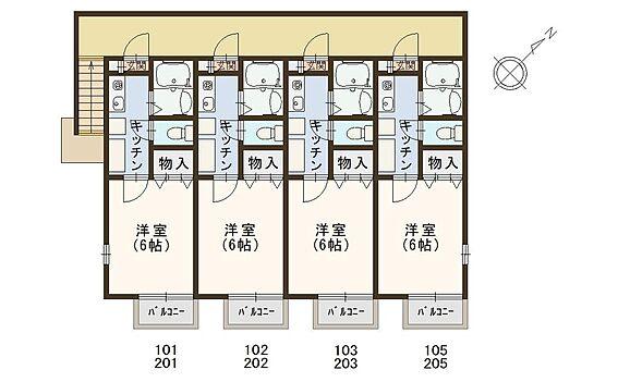 アパート-千葉市花見川区幕張町1丁目 1K×8室、駐車場スペース2台あり