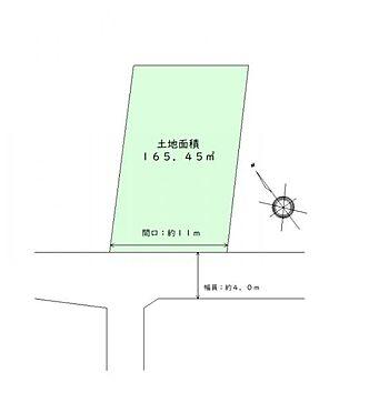 土地-仙台市太白区八木山弥生町 区画図