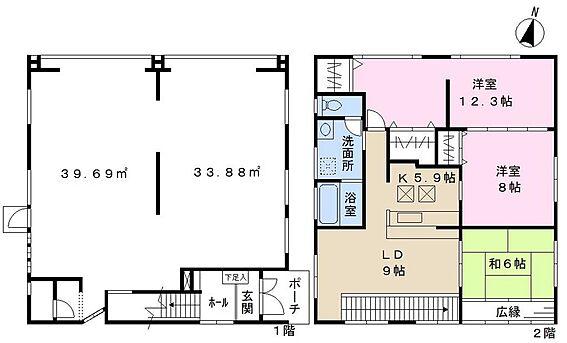 店舗付住宅(建物全部)-成田市公津の杜1丁目 間取り