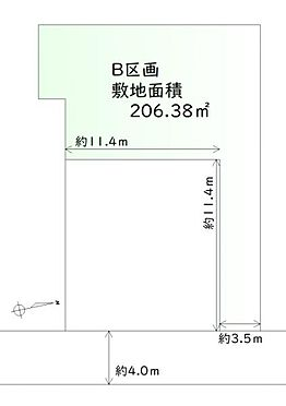 土地-仙台市若林区南小泉3丁目 区画図