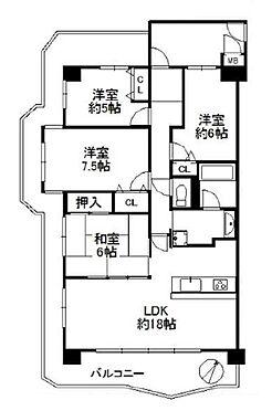 マンション(建物一部)-神戸市北区大原1丁目 三面バルコニーを持つファミリー向け物件
