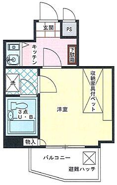 マンション(建物一部)-神戸市中央区楠町3丁目 収納家具付ベッドがある1Kのお部屋