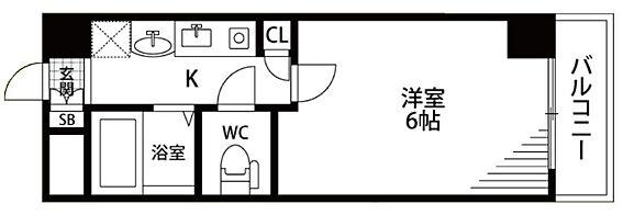 マンション(建物一部)-大阪市中央区南船場1丁目 バストイレ別の暮らしやすい間取り