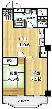 建物全部その他-京都市伏見区石田内里町 2LDK間取り図。