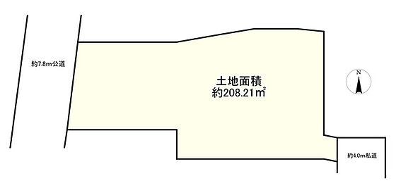 土地-墨田区東向島5丁目 区画図