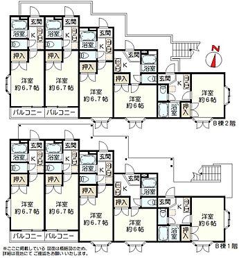 アパート-仙台市青葉区青葉町 B棟間取り図