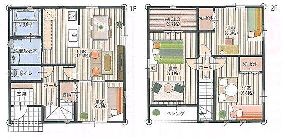 土地-高島市鴨川平3丁目 間取りは4LDK:車庫6台程度可能