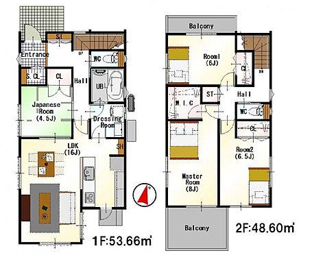 新築一戸建て-西尾市伊藤2丁目 (4LDK+SCL+WIC)考えられた間取りは生活のしやすさを重視。家族みんなが気持ちよく過ごすための構造と使いやすい間取りを実現。