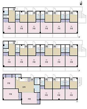マンション(建物全部)-川崎市中原区上小田中1丁目 間取り