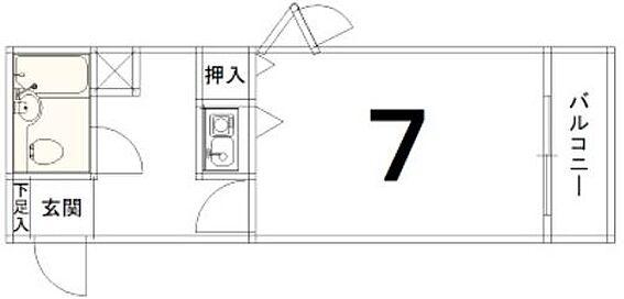 マンション(建物一部)-京都市伏見区深草泓ノ壺町 水まわりと居室をわけた、単身者に人気のプラン