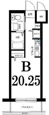 区分マンション-横浜市神奈川区栄町 間取り