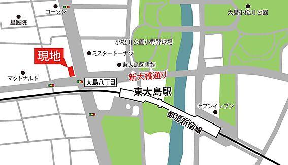 マンション(建物一部)-江東区大島7丁目 周辺は緑あふれる公園や水辺 都心の喧騒を忘れられるくつろぎの環境です。