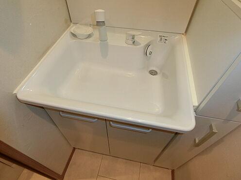 中古マンション-文京区本郷3丁目 シャワー機能付洗面化粧台を設置。家具・小物類は販売価格に含まれます