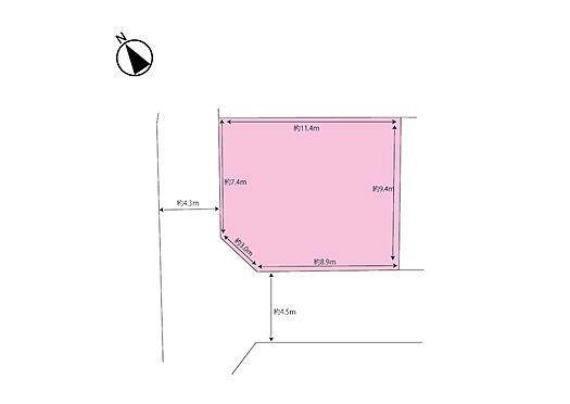 土地-横浜市旭区東希望が丘 南西角地の整形地 建築条件はありません!