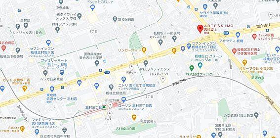 マンション(建物一部)-板橋区坂下1丁目 地図
