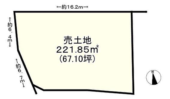 土地-神戸市垂水区塩屋町6丁目 区画図
