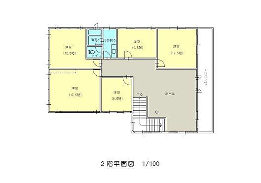 住宅付店舗(建物全部)-八街市八街ほ 居宅2階間取図