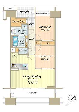 中古マンション-中央区晴海5丁目 66.10m2の2LDK