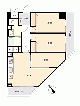 中古マンション-江戸川区中央2丁目 間取り