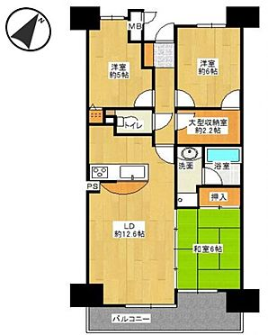 中古マンション-名古屋市天白区島田1丁目 広々バルコニーから室内に暖かな光が差し込みます。