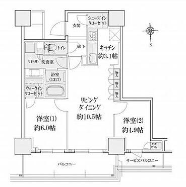 区分マンション-大阪市中央区高津3丁目 間取り