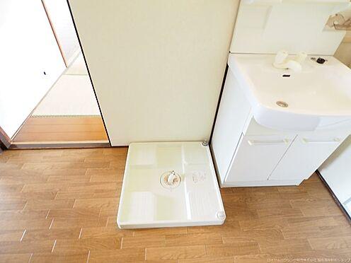 中古マンション-千葉市美浜区高洲3丁目 防水パン付洗濯機置場です!