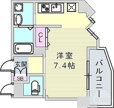 マンション(建物一部)-神戸市中央区中山手通7丁目 間取り