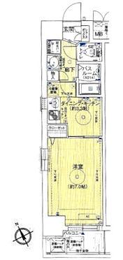 区分マンション-神戸市兵庫区湊町2丁目 間取り