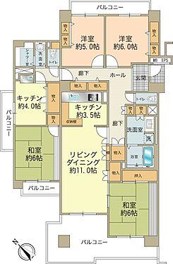 中古マンション-八王子市上柚木3丁目 3LDK+1K(約122m2)角部屋のお部屋です。